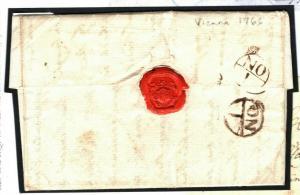 AUSTRIA Vienna GB London ENTIRE LETTER 1766 {samwells-covers} P132