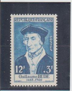 France  Scott#  B303  MH  (1956 Guillaume Bude)