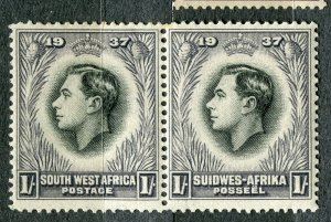 SOUTH WEST AFRICA; 1930s early pictorial issue fine Mint hinged 1s. Pair