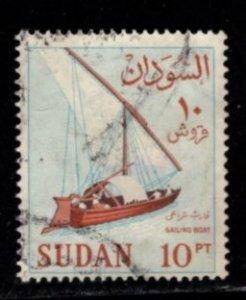 Sudan - #156 Sailboat - Used