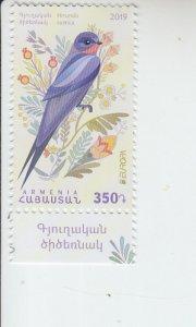 2019 Armenia Barn Swallow Europa (Scott 1188) MNH