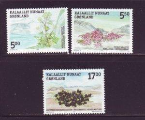 Greenland Scott  431-33 2004 Edible Plants stamp set mint NH