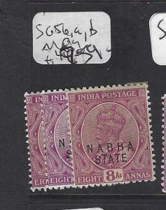 INDIA  NABHA   (P2508B)   KGV   8A  SG 56, 56A, 56B        MOG