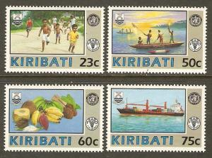 Kiribati #595-8 NH WHO/FAO
