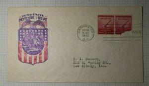 US FDC Sc# 900-45 750 Washington DC 1940 IOOR US Defense Issue