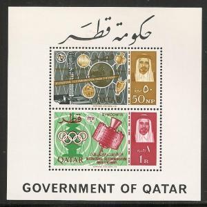 Qatar 68a 1965 100th ITU s.s. MNH