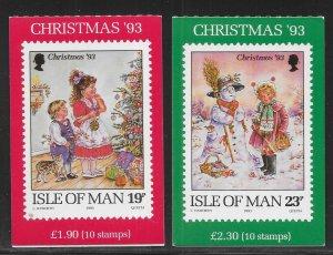 Isle of Man 572-573 1993 Christmas Booklets MNH 2022 Scott c.v. $13 (*TC*)