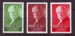 J18472 JLs stamps 1935 norway set mh #b5-7 nansen