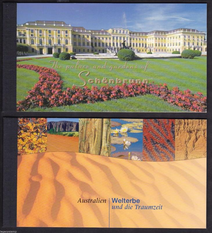 1998 United Nations Schonbrunn Palace & Gardens/ 1999 Australia World Booklets