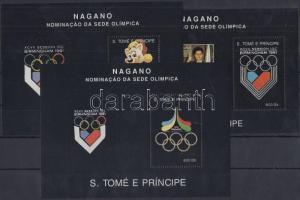 Sao Tomé e Príncipe stamp Olympics block set MNH 1992 Mi 267-269 WS159266