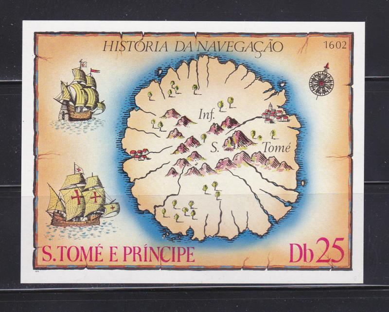 St Thomas and Prince Islands 540 MNH Map / HipStamp