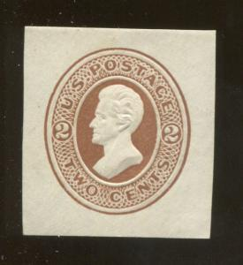 1870 United States of America Andrew Jackson 2c Postage Stamp #U78 CV $35
