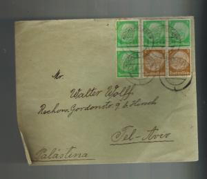 1937 Aschersleben Germany Cover to Tel aviv Palestine