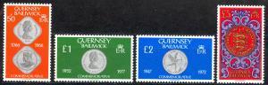 Guernsey Sc# 201-203A MNH 1980-1981 Coins