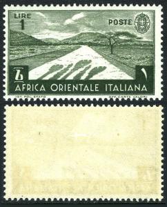 Italian East Africa 12, Mint. Desert Road, 1938