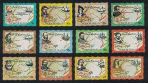 Norfolk Pacific Explorers 12v SG#562-573 SC#550-561A