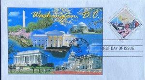 Ginsburg 3813 Washington DC Square Stamp