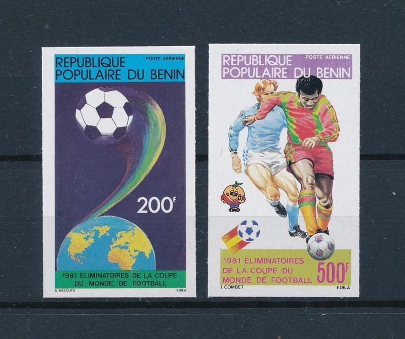 [60429] Benin 1981 World Cup Soccer Football Spain Imperforated MNH
