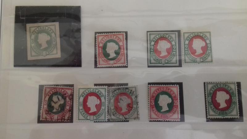 British Heligoland Queen Victoria Collection Used & Unused