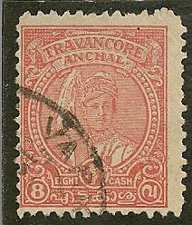 India-Travancore   Scott   48   Ruler     Used