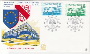 France 1987 Council of Europe Picture Slogan Cancels+ Stamps FDC Cover Ref 31640