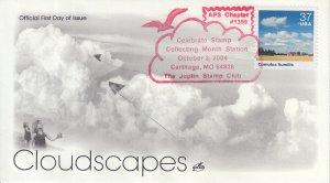 2004 Cumulus Humilis Cloudscapes  (Scott 3878m) Artcraft Clouds Pre-FDC