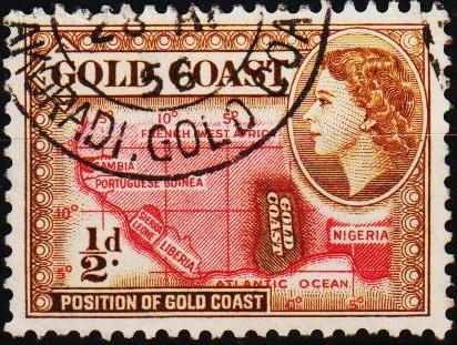 Gold Coast. 1952 1/2d S.G.153 Fine Used