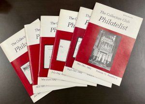 The Collectors Club Philatelist Full year set of 6 Issues Jan-December 1992