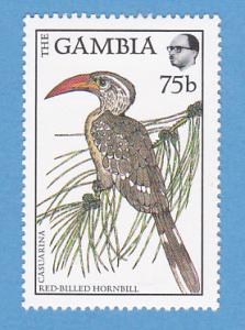 Gambia 720 MNH - Red-Billed Hornbill, Casuarina