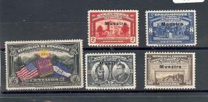 Honduras, C84, C85-88, Overprint Specimen Singles,**MNH**