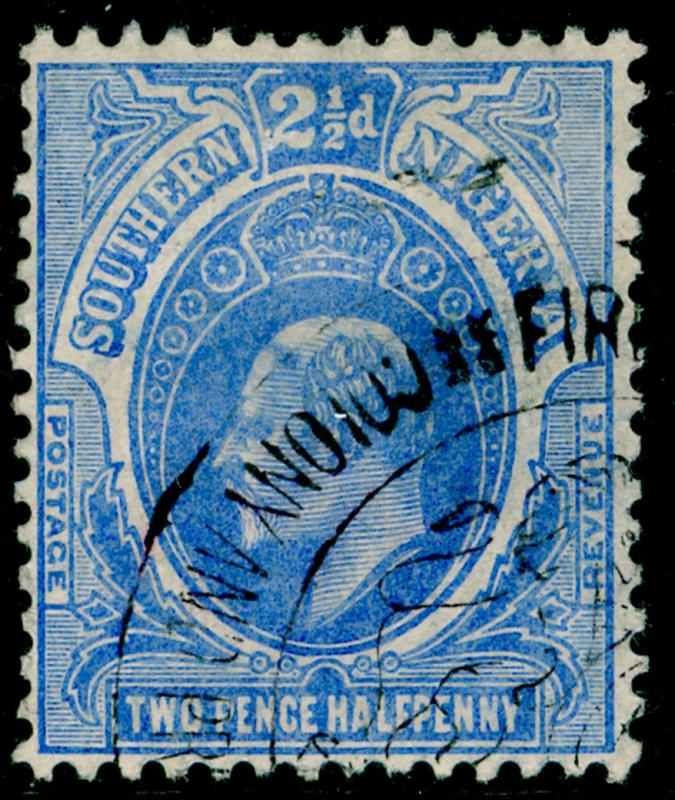 SOUTHERN NIGERIA SG36, 2½d blue, FINE used.