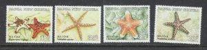 Papua New Guinea 682-85 MNH 1987 Starfish (ap7326)