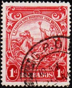 Barbados. 1938 1d  S.G.249a Fine Used
