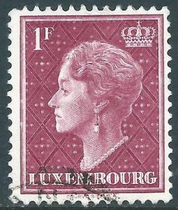 Luxembourg, Sc #254, 1fr Used