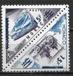 Monaco 375a 15fr Transportation surcharge pair MNH