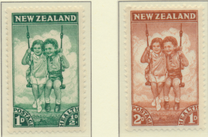 New Zealand Stamps Scott #B20 To B21, Mint Never Hinged - Free U.S. Shipping,...