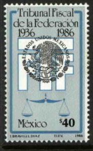 MEXICO 1449, FEDERAL TAX COURT, 50th ANNIVERSARY. MINT, NH. F-VF.
