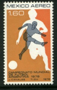 MEXICO C565, World Soccer Cup Championship. MINT, NEVER HINGED. F-VF.