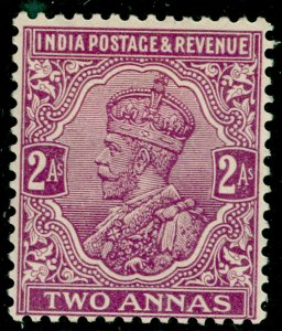 INDIA SG167, 2a reddish purple, M MINT. Cat £11.