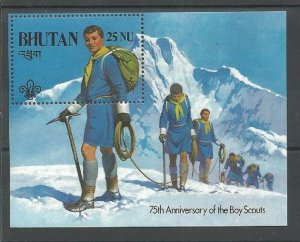 1982 Bhutan Boy Scouts BadenPowell mountain SS
