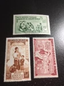 Indo China sc CB2-CB4 MNH comp set