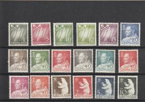 Greenland  Scott#  48-65  MNH  (1963-1968)