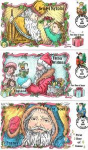 US Collins FDC SC#3537-3540 Santas