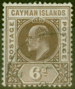 Cayman Islands 1905 6d Brown SG11 Fine Used