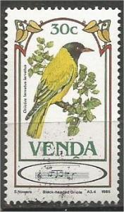 VENDA, 1985, MNH 30c, Songbirds, Scott 118