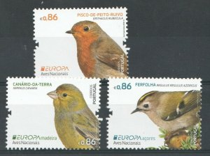 2019  PORTUGAL, MADEIRA & AZORES -  SG:N/A -  EUROPA - BIRDS  - UNMOUNTED MINT