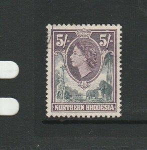 Northern Rhodesia 1953 5/- VFU SG 72