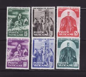 Vatican 275-280 Set MNH World Refugee Year (A)