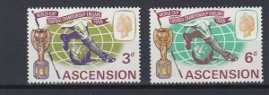 ASCENSION  1966  WORLD CUP  SET  MNH