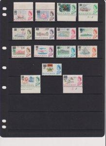 1966 Bahamas Queen Elizabeth portrait surcharge set MH Sc# 230 / 244  $24.65 #1